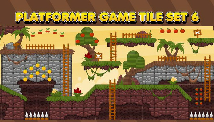 Platformer Game Tile Set 6