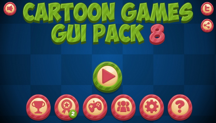 Cartoon Games GUI Pack 8