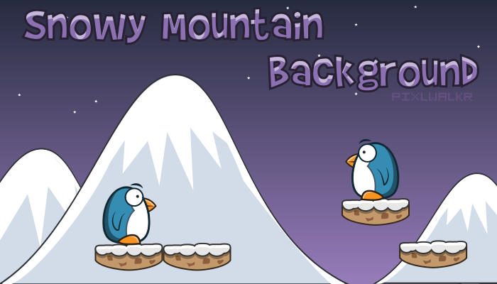 Snowy Mountain Background