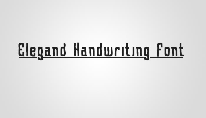 Elegand Handwriting Font