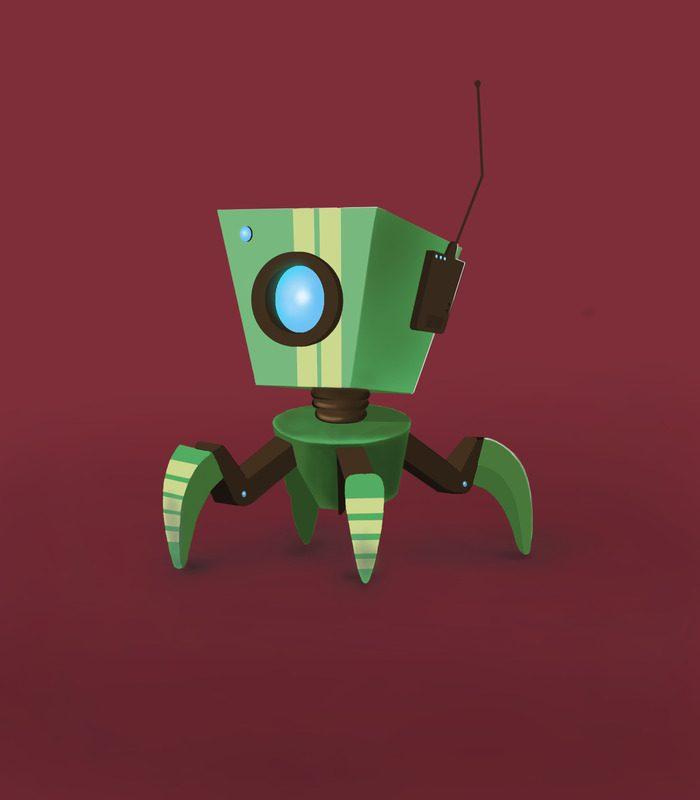 2D robot character