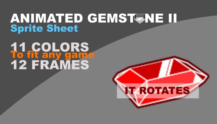2d gemstone II with animation and 11 different colors
