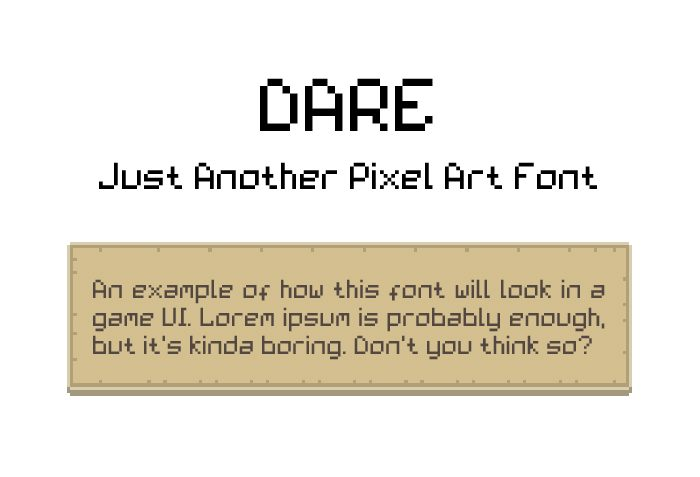 Dare – Just Another Pixel Art Font