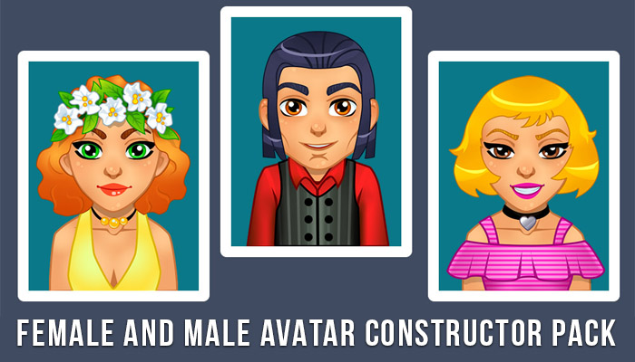 Female and male avatar constructor pack