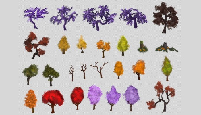 Pack Natural decoration [Trees]
