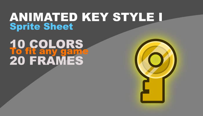 key with rotation in 10 colors, style I