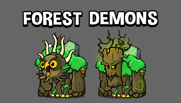 Forest demon animated game asset