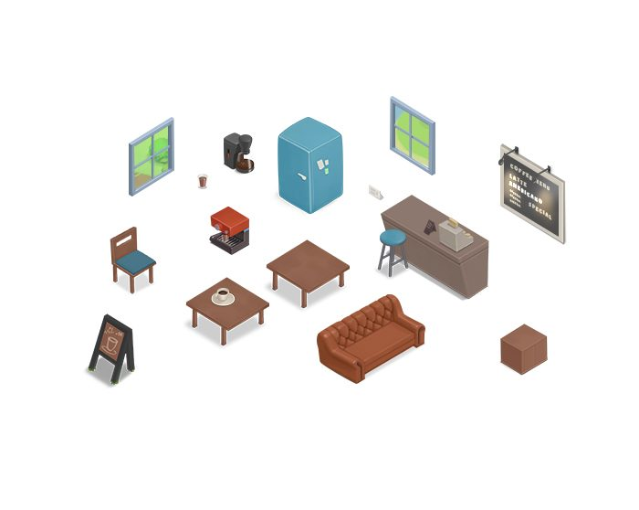 Isometric Interior Objects