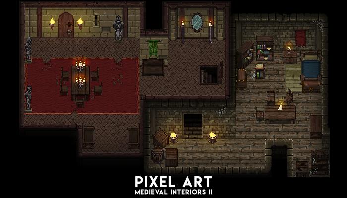 Pixel Art Medieval Interiors 2