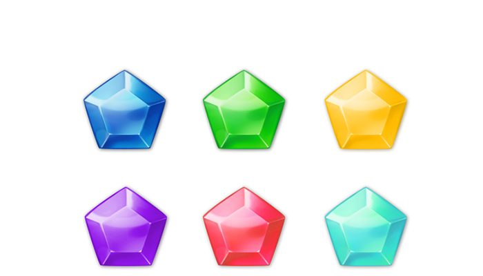 Gems Icons for Match 3 Game