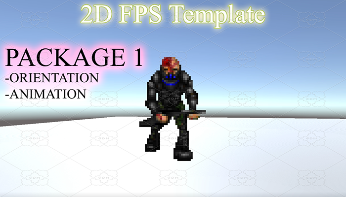 Classic FPS Template Package 1: 8 directional view