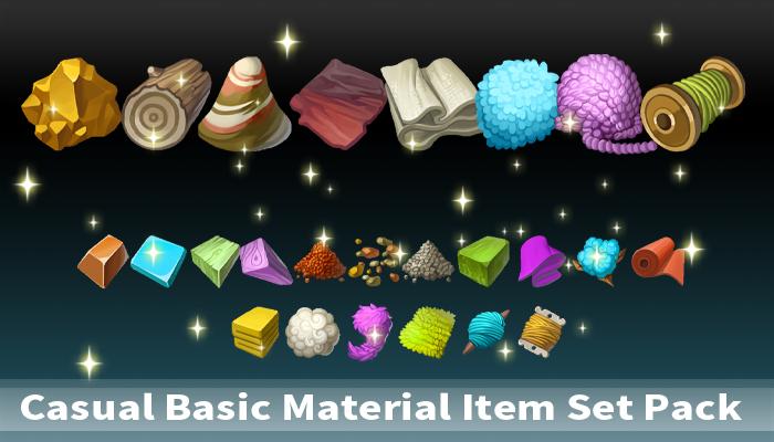 Casual Basic Material Item Set Pack