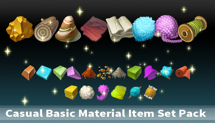 Casual Basic Material Item Set Pack