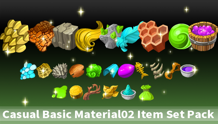 Casual Basic Material02 Item Set Pack