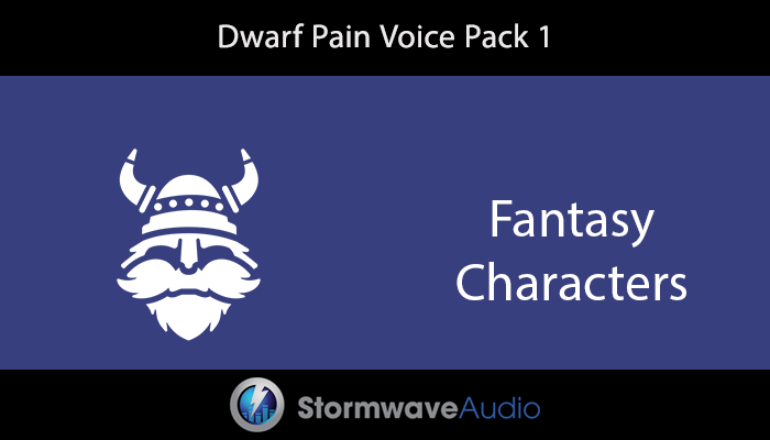 Dwarf Pain Voice Pack 1