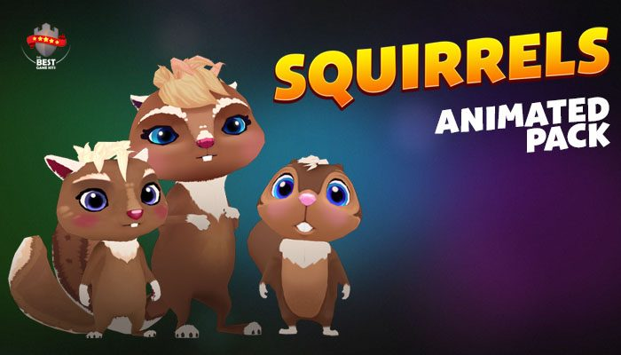 Squirrels animated pack
