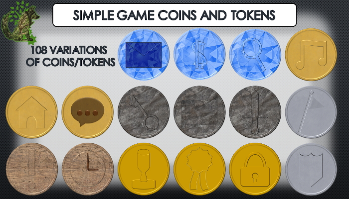 Simple Game Coins/Tokens