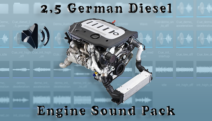 2.5 Diesel German – Engine Sound Pack