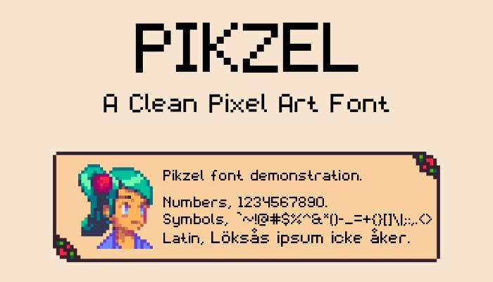 Pikzel – A Clean Pixel Art Font