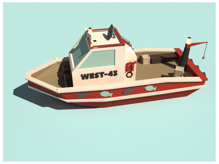 Low Poly Fish-ship