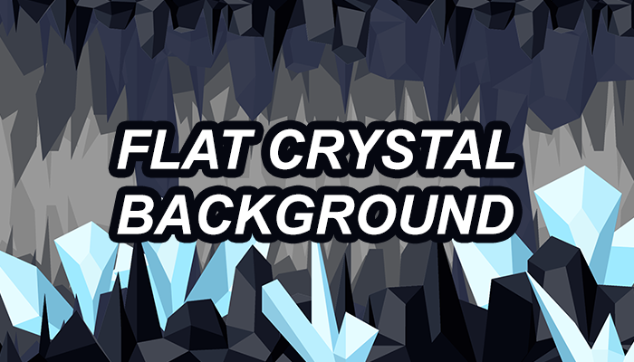 Flat crystal cave background