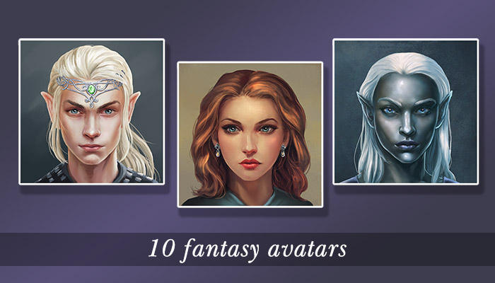 10 fantasy avatars pack