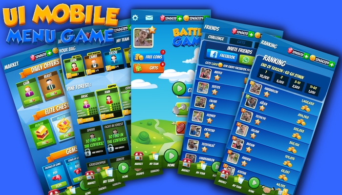 UI Mobile Menu Game