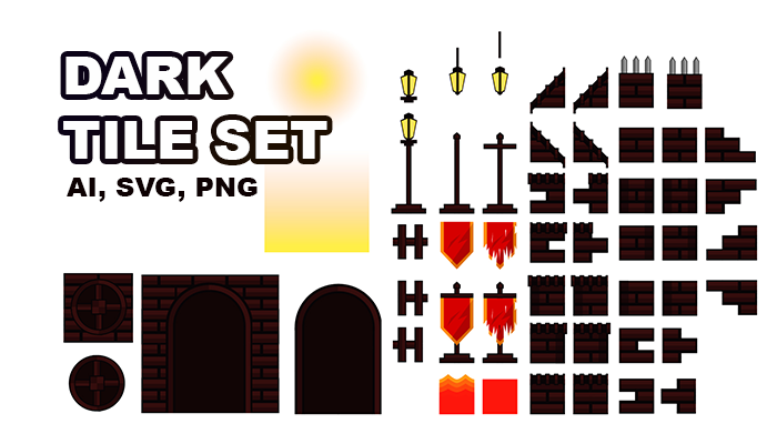 Dark Tile Set