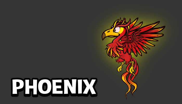 Animated Phoenix game sprite