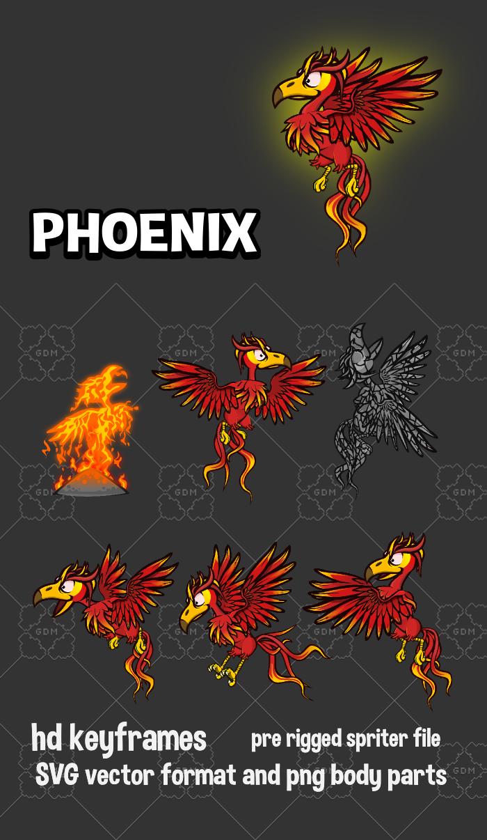 Animated Phoenix game sprite