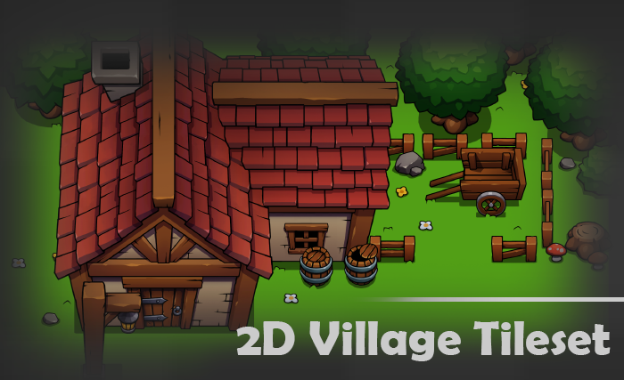 2D Village Tileset