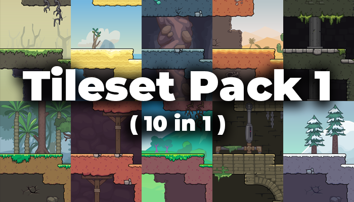 Cartoon Platformer Tileset Pack #1