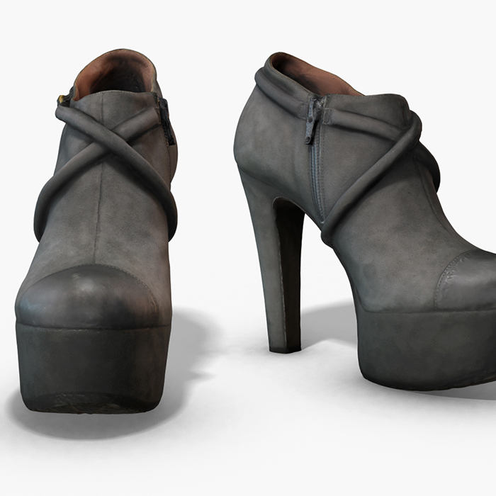 Female Leather Short Boots – Photoscanned PBR