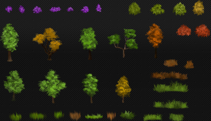 Sprites Forest [Trees, Shrubs, Flowers]