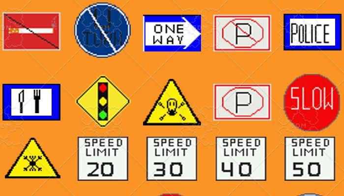 Info signs 56 x 56 pixel