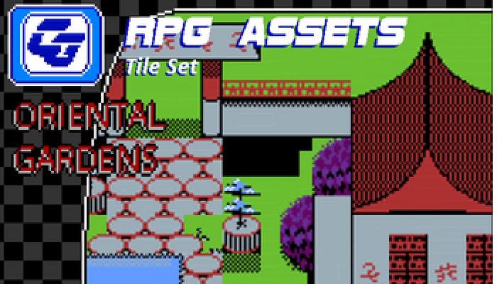 RPG Tile Set Oriental Gardens NES