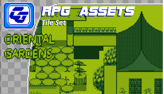 RPG Tile Set Oriental Gardens Gameboy
