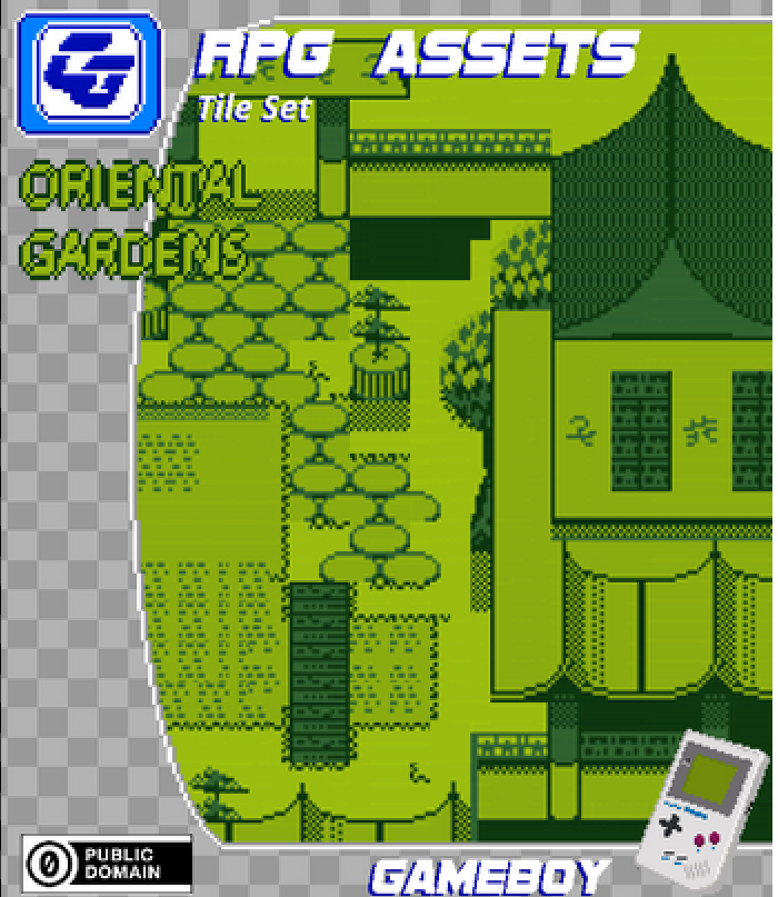 RPG Tile Set Oriental Gardens Gameboy