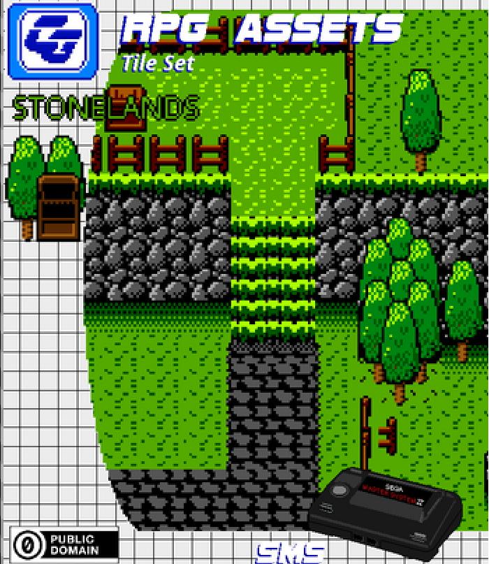 RPG Tile Set Stonelands SMS