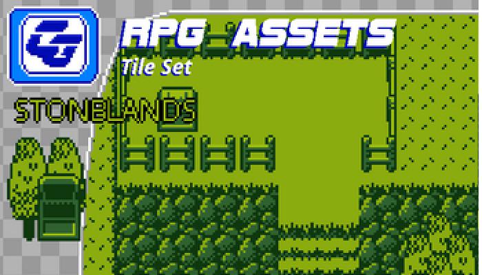 RPG Tile Set Stonelands Gameboy