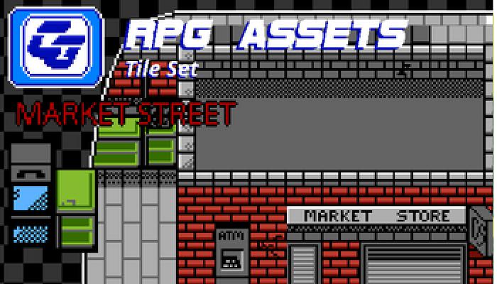 RPG Tile Set Market Street NES