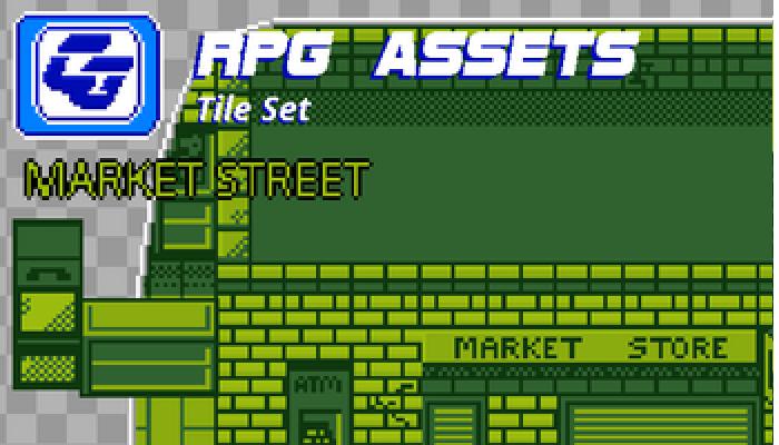 RPG Tile Set Market Street Gameboy