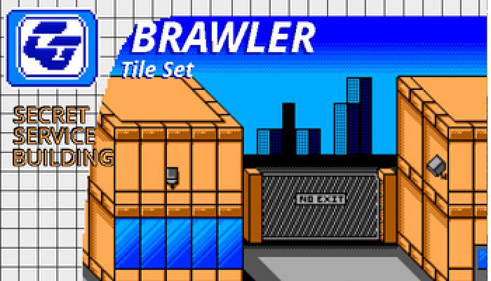 BRAWLER Tile Set Secret Service Building SMS