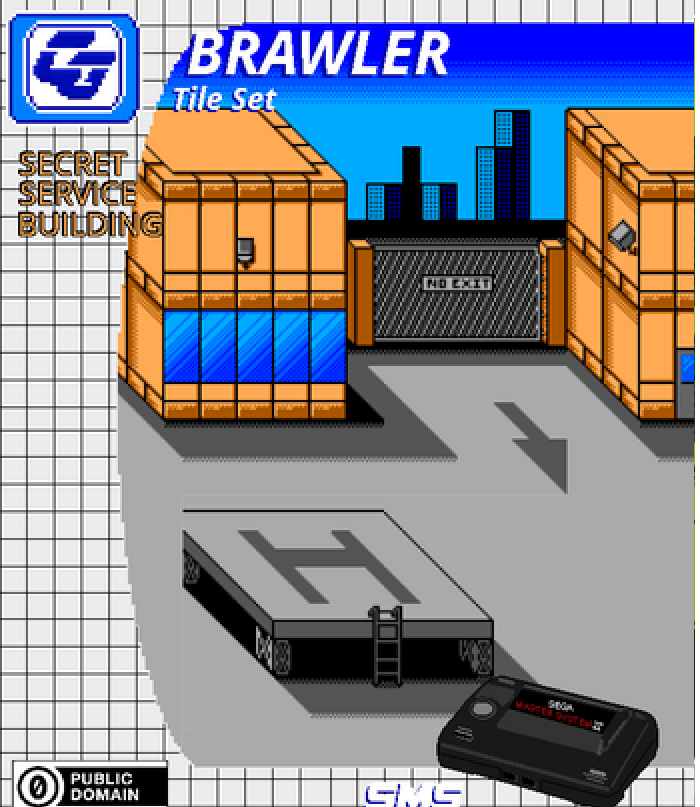 BRAWLER Tile Set Secret Service Building SMS