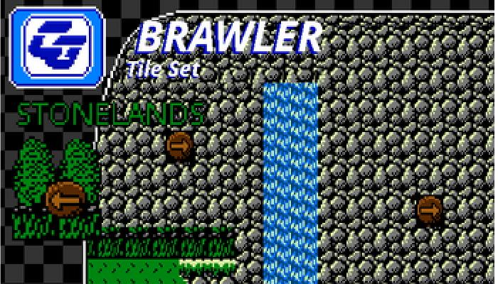 BRAWLER Tile Set Stonelands NES