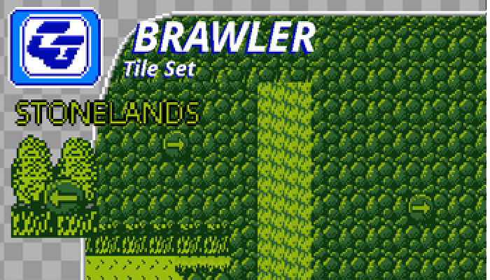 BRAWLER Tile Set Stonelands Gameboy