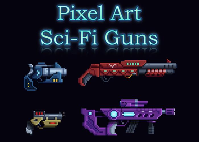 Pixel Art – Sci Fi Guns w/ Animations