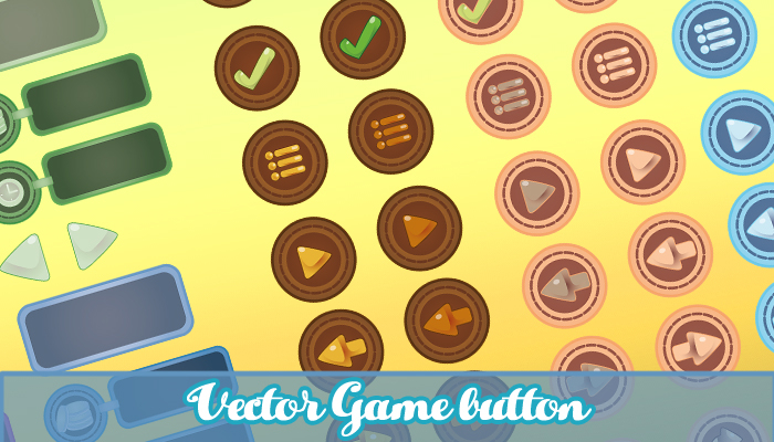 Vector Game Button