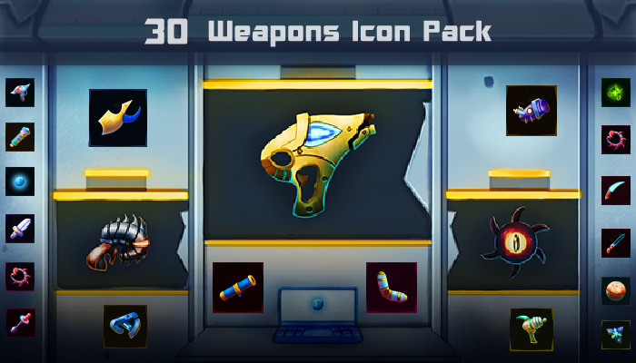 Sci Fi Weapons Icon Pack
