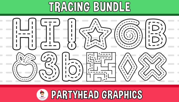Tracing Bundle (Assets For Children´s Games)